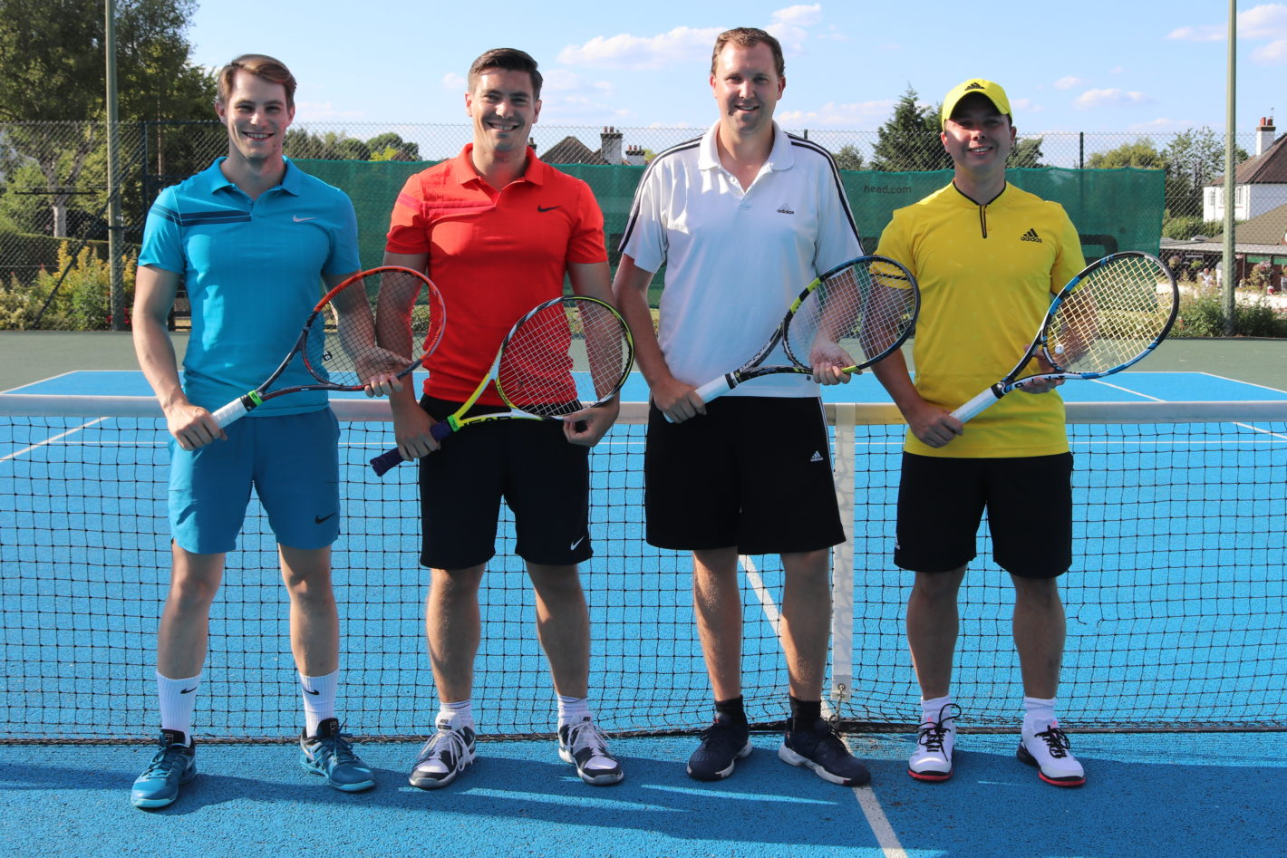 4 tennis players ready for action