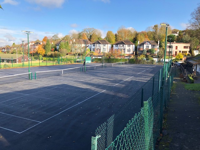 new tennis court surfaces finished, november 2019